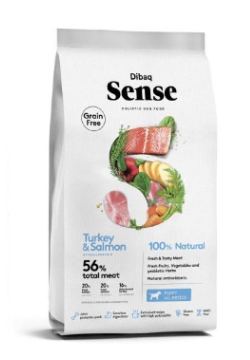 Dibaq Sense Puppy Dog Food Salmon and Turkey (2 KG) - Tom and Pluto