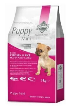 Dibaq Puppy Mini Chicken & Rice 100% Natural Dog Food 3kg - Tom and Pluto