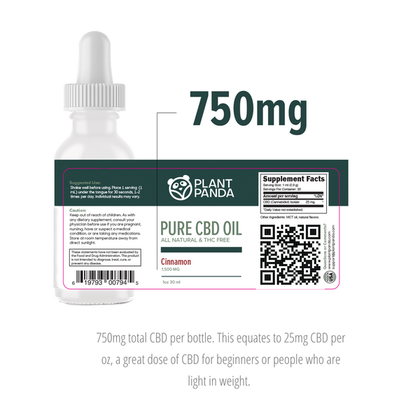 Plant Panda Pure CBD Oil 750mg