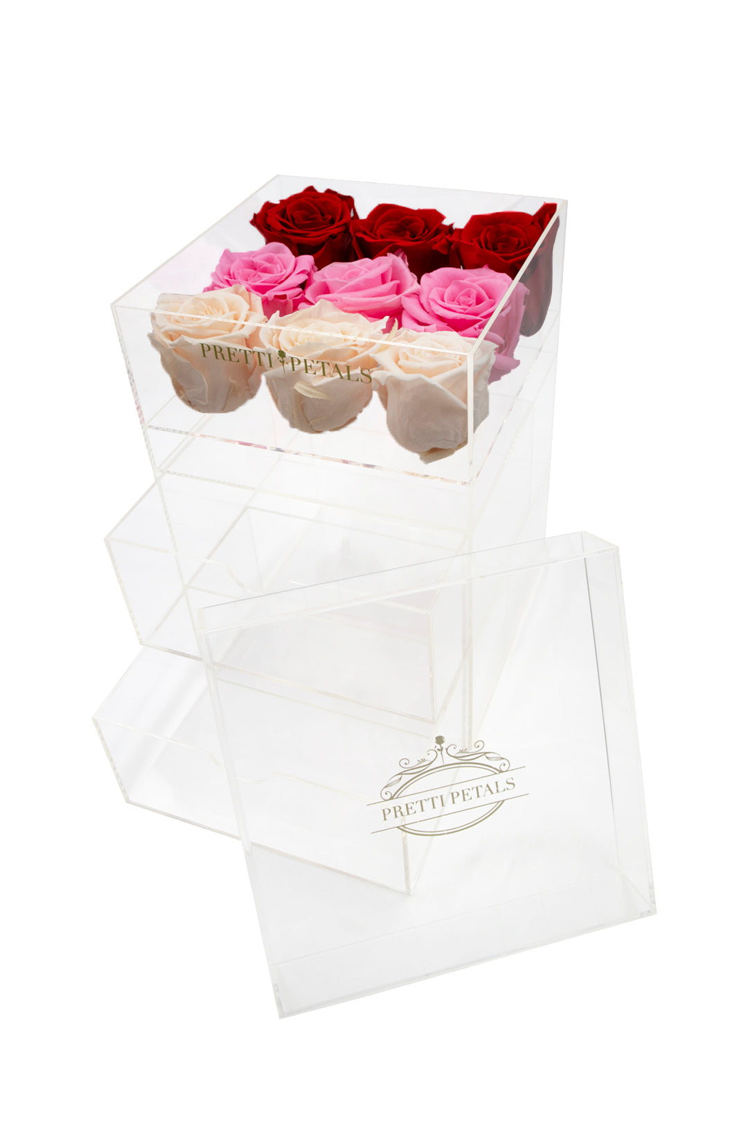 Nine Rose Claire Jewelry Box