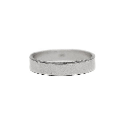 4mm Platinum Flat Wedding Band