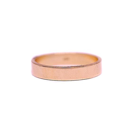 4mm Flat Rose Gold Men's Wedding Band