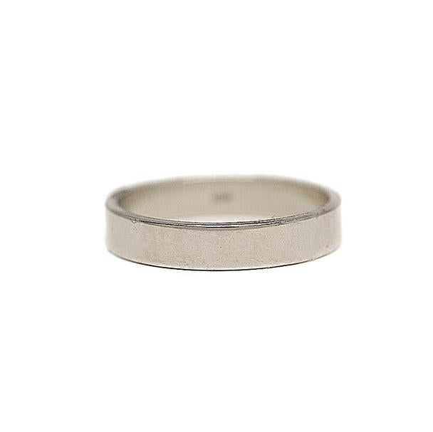 4mm Flat White Gold Men's Wedding Band
