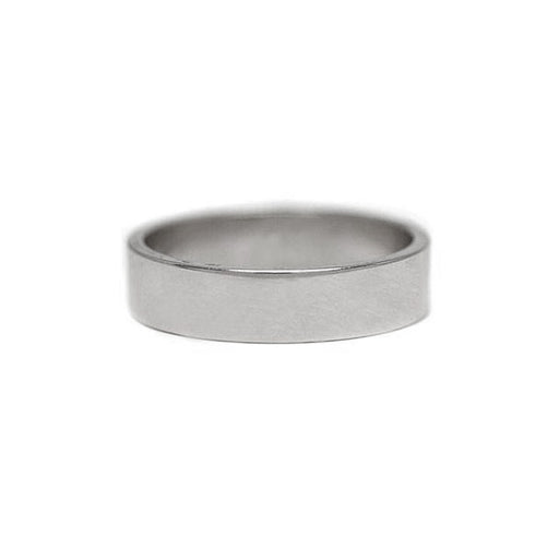5mm Platinum Flat Wedding Band