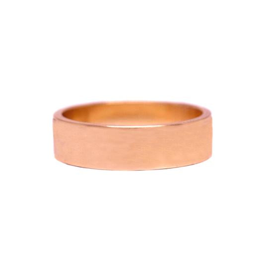 6mm Flat Rose Gold Men's Wedding Band