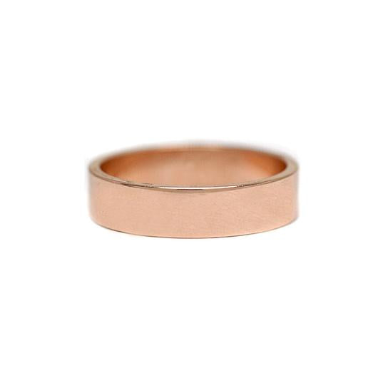 5mm Flat Rose Gold Men's Wedding Band