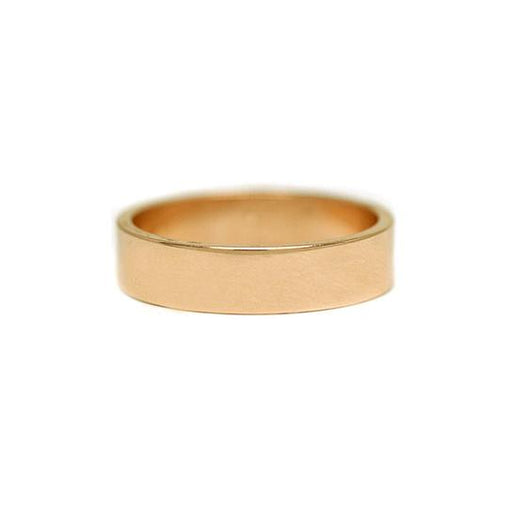 5mm Flat Yellow Gold Men's Wedding Band
