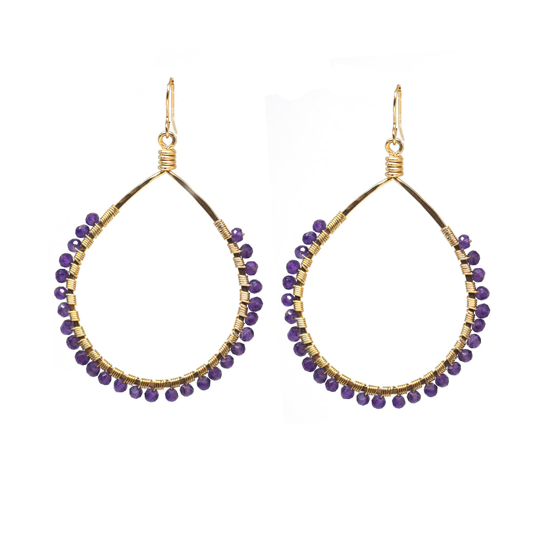 Amethyst Mini Carlita Hoops