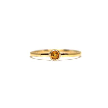 Citrine Gemstone Stacking Ring