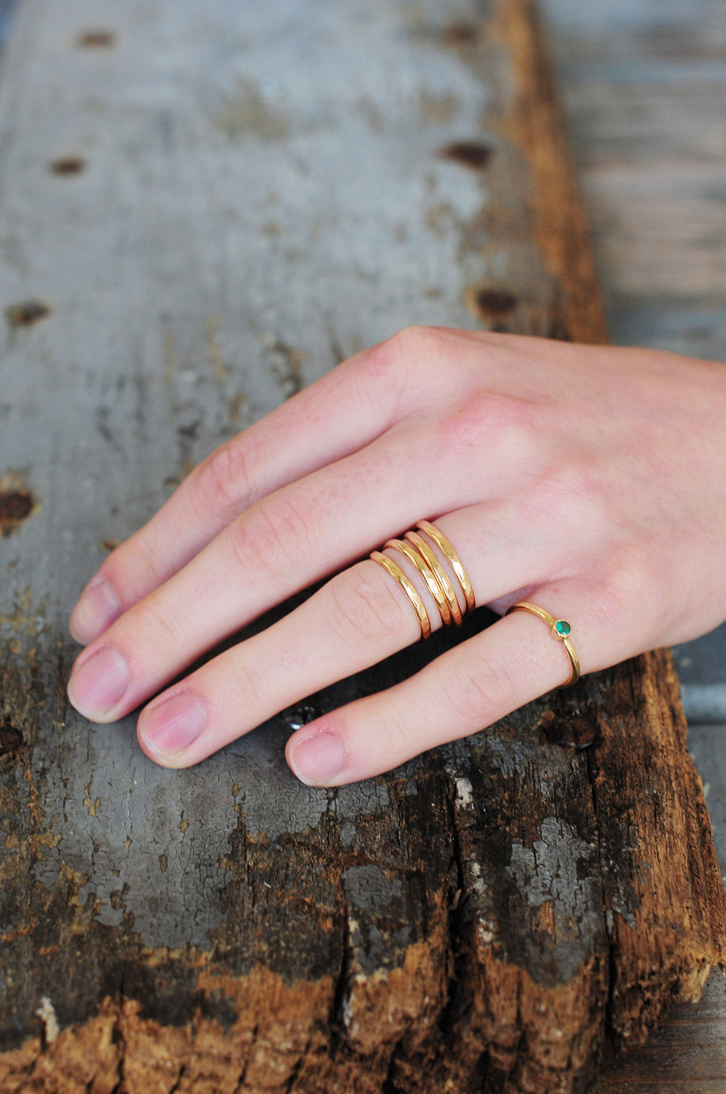 Opal Gemstone Stacking Ring