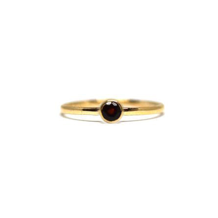 Garnet Gemstone Stacking Ring