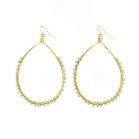 Amazonite Carlita Hoops