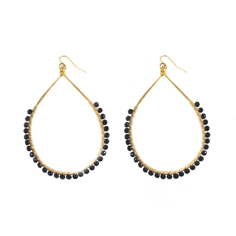 Black Spinel Carlita Hoops