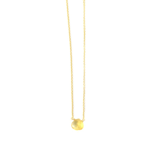 Citrine Drop Stone Necklace