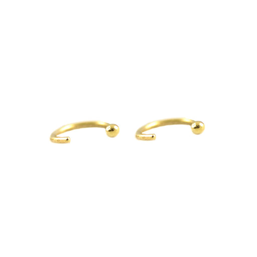 14K Gold Ear Hugger Hoops