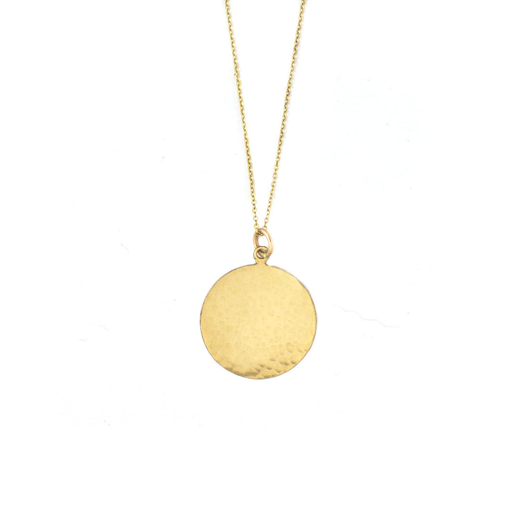Mallory shelter jewelry gold disc necklace hammered disc necklace aloadofball Images