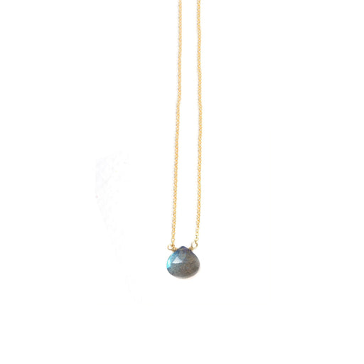 Labradorite Drop Stone Necklace