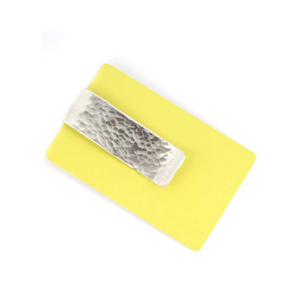Hammered Men's Sterling Silver Money Clip