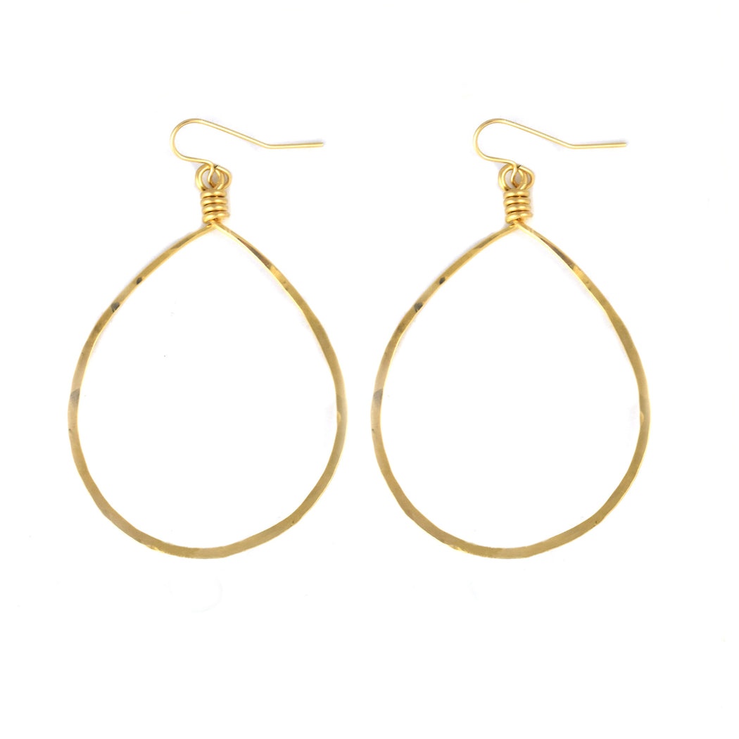 14k Goldfill Oval Hoop Earrings
