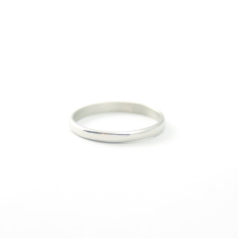 2mm Wedding Band - White Gold