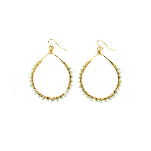 Amazonite Mini Carlita Hoops