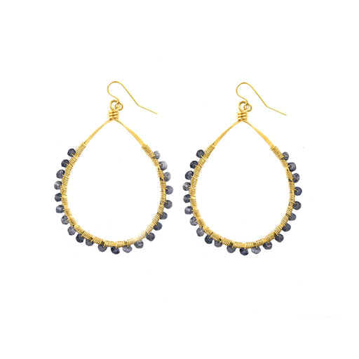 Iolite Mini Carlita Hoops