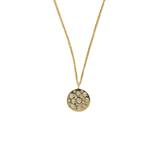 Multi Diamond Disc Necklace
