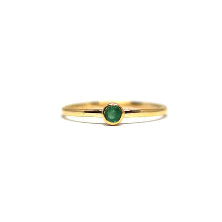 Emerald Gemstone Stacking Ring