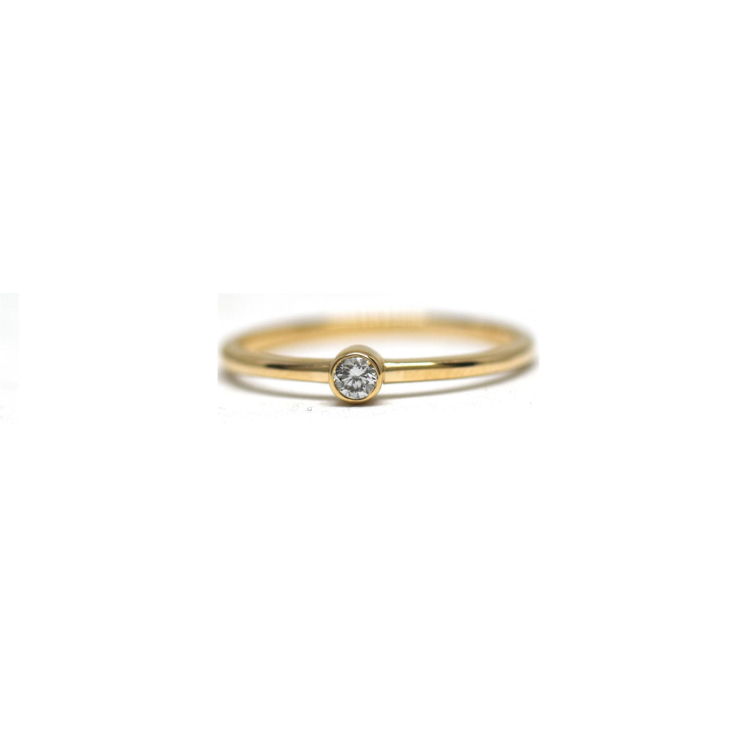 Teeny Tiny Diamond Bezel Ring