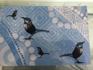 Blue Wren Tin Painting