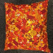 Red and Orange cushion