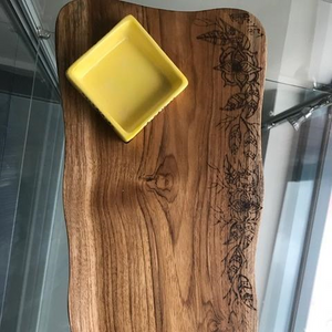 Teak Board with large bowl