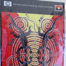 Load image into Gallery viewer, Jigsaw Puzzle - Four Tribe Corroboree for the dreaming goanna
