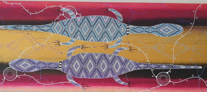 Painting - Goanna Warriors Fighting