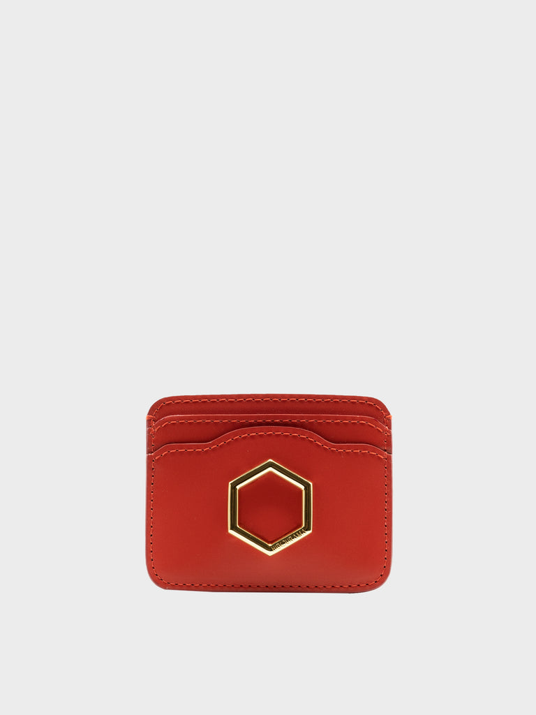 CARD HOLDER HEXAGON RED