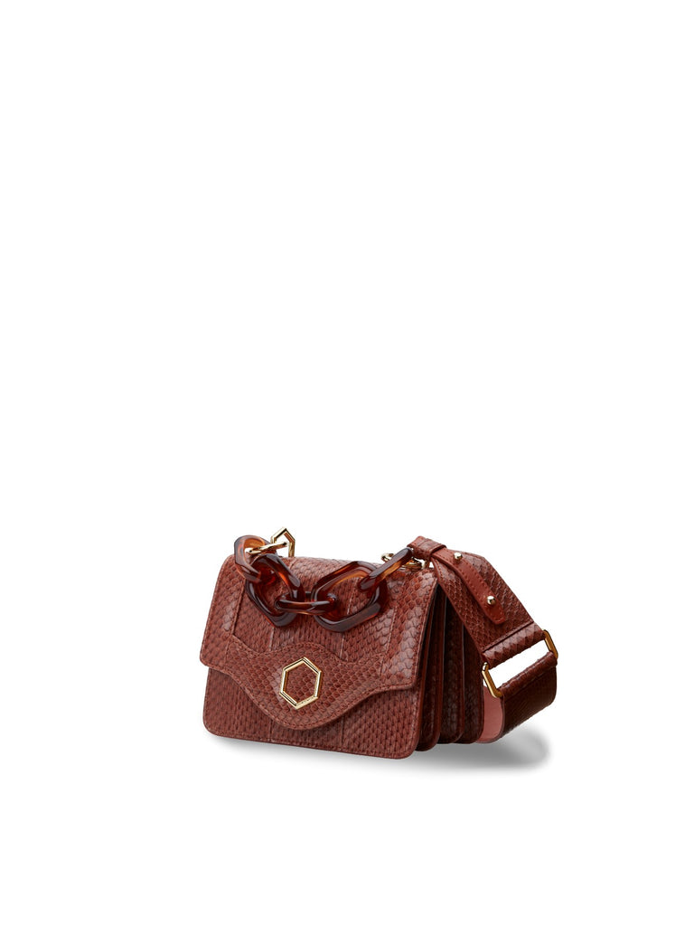 SS21 TIFFANY SMALL SNAKE BROWNY