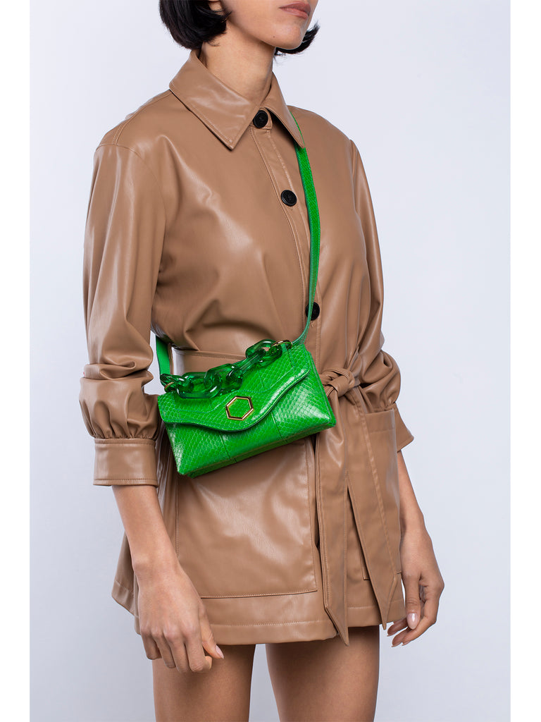 SS21 LISA MINI SNAKE GREEN