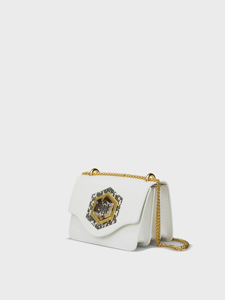 TIFFANY SMALL DOUBLE ICON WHITE SNAKE ROCCIA