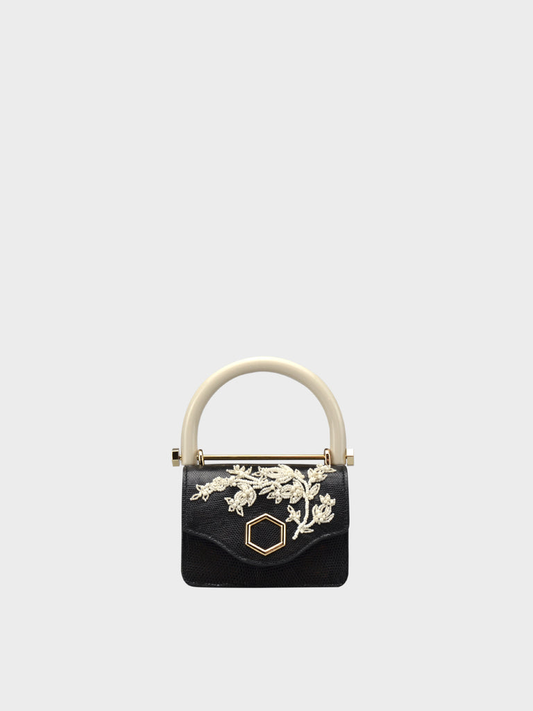 FW20 TIFFANY MINI VARANO IVORY FLOWER BLACK