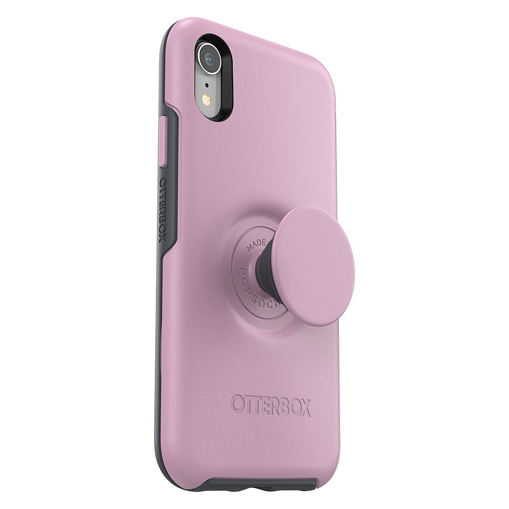 iPhone XR Max Otter + Pop Symmetry 炫彩幾何 + 泡泡騷系列保護殼 (粉), PopSockets