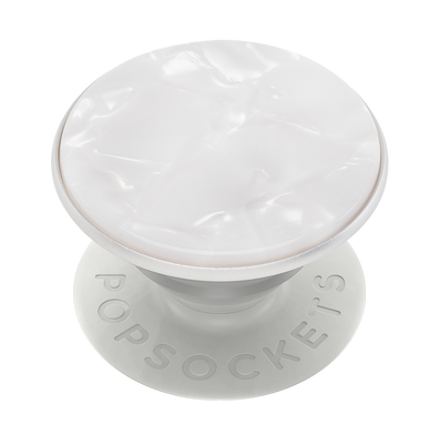 Acetate Pearl White  珍珠白琥珀 <可替換泡泡帽>, PopSockets