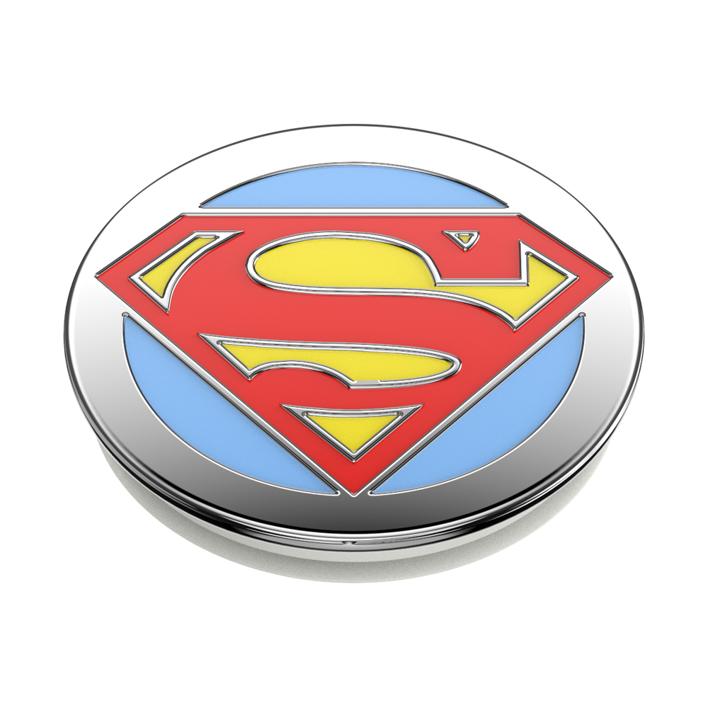 ENAMEL SUPERMAN 超人琺瑯瓷版 <可替換泡泡帽>, PopSockets