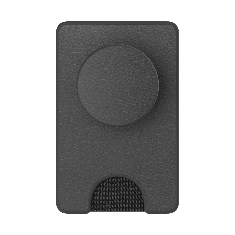 Pebbled Vegan Leather Black 暗黑皮革 <泡泡騷卡夾 Plus>, PopSockets
