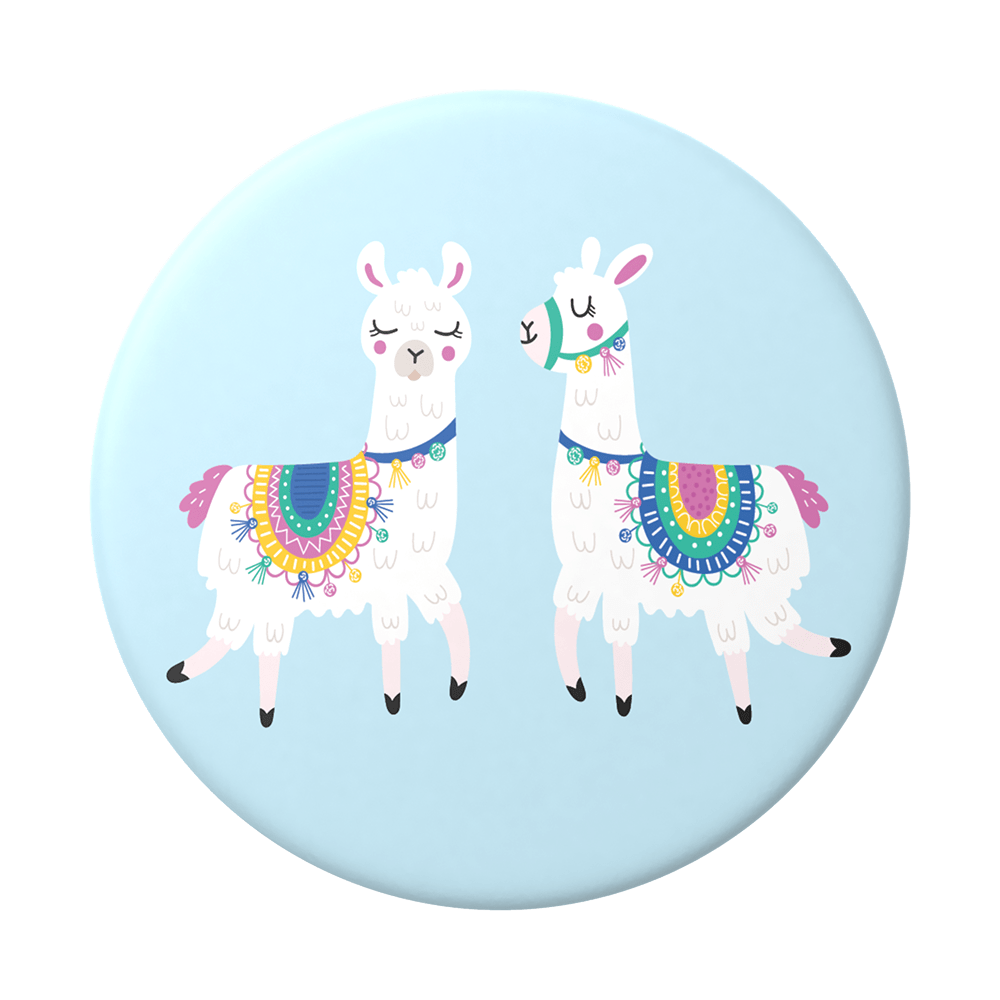 Llamalliance in Blue 一對駱馬 <泡泡帽>, PopSockets