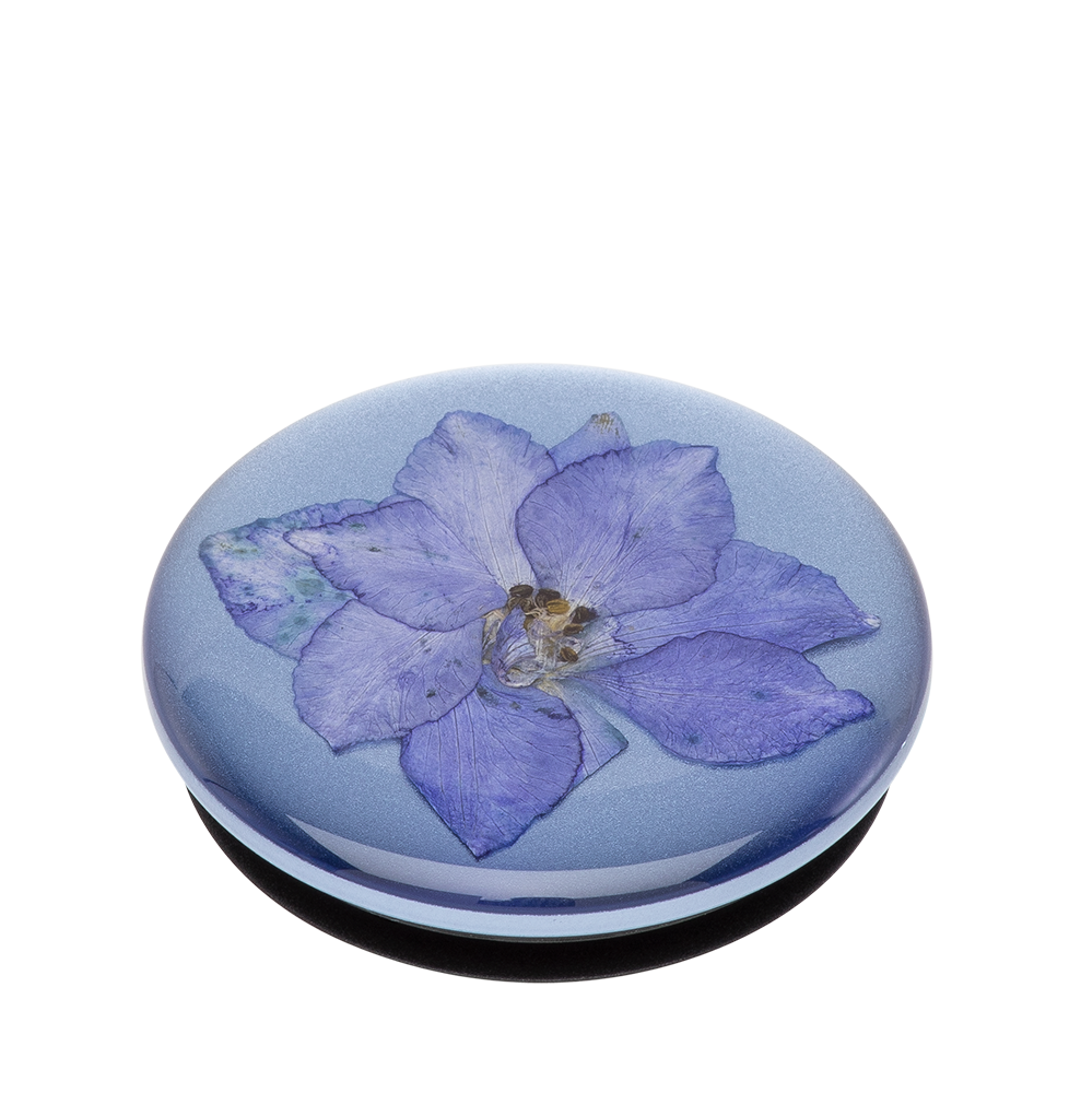 Pressed Flower Larkspur Purple 藍翠雀壓花 <可替換泡泡帽>, PopSockets