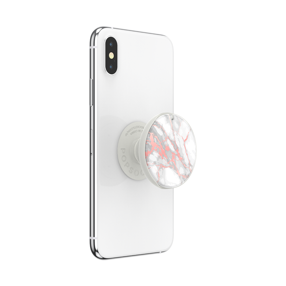 Rose Gold Lutz Marble Gloss 玫瑰金大理石 <泡泡騷魔鏡>, PopSockets