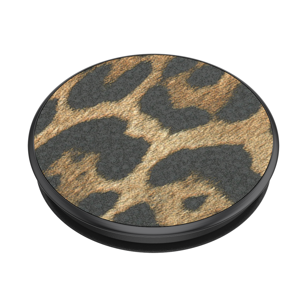 Vegan Leather Leopard 皮革豹紋 <可替換泡泡帽>, PopSockets