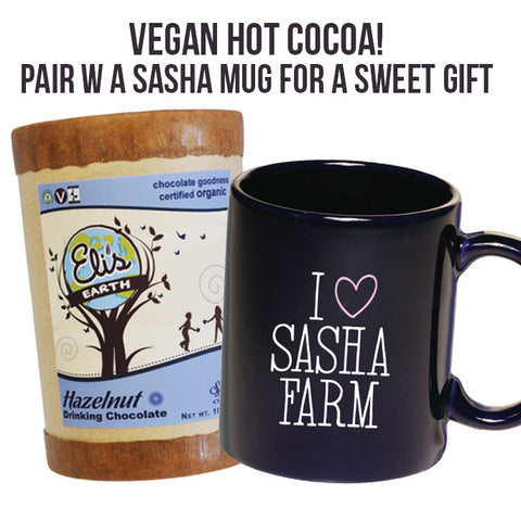 VEGAN Hot Chocolate, with a SASHA Mug :)