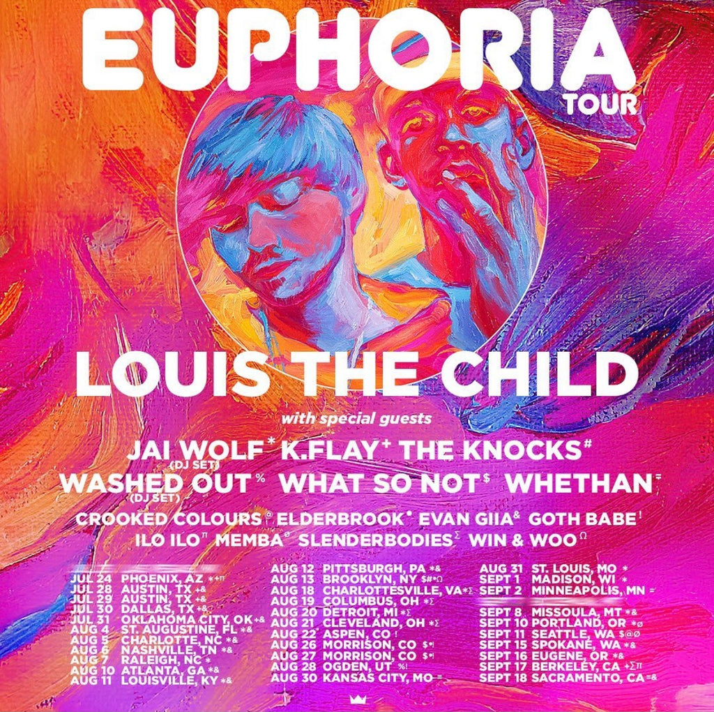 Poster for event: Louis the Child Euphoria tour