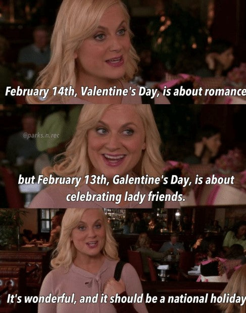 Valentine's Day Galetine's Day Leslie Knope Parks And Recreation Meme